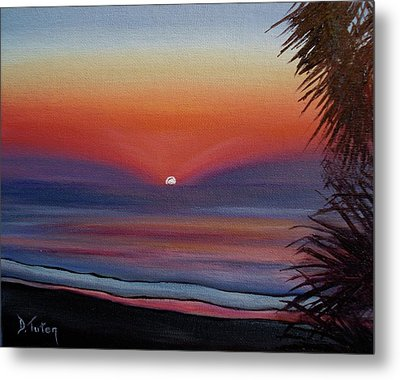 Metal Print featuring the painting Sunrise Glow by Donna Tuten