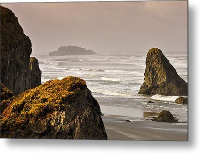 Metal Print featuring the photograph Sunrise Gold And Surf by Kevin Munro
