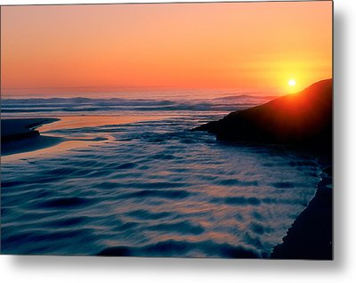 Sunrise Good Harbor Metal Print