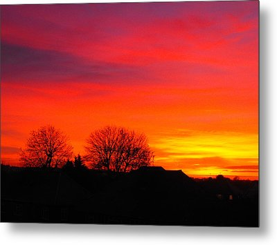 Sunrise Harrow Metal Print