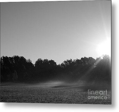 Metal Print featuring the photograph Sunrise In Black And White by Anita Oakley