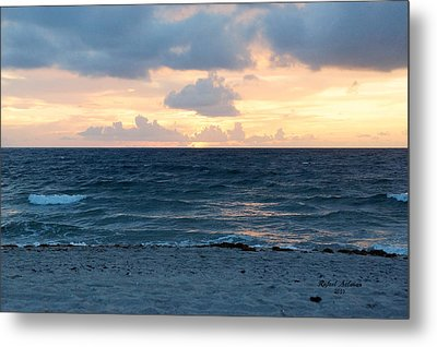 Metal Print featuring the photograph Sunrise In Deerfield Beach by Rafael Salazar
