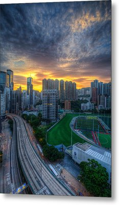 Sunrise In Hong Kong Metal Print