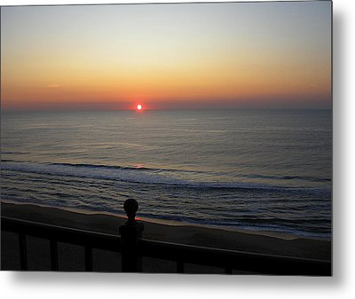 Metal Print featuring the photograph Sunrise In Ocean City by Victoria Lakes