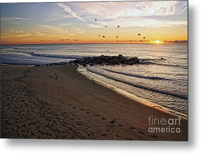 Metal Print featuring the photograph Sunrise In Ocean Grove by Debra Fedchin