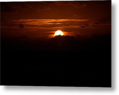 Sunrise In The Clouds Metal Print