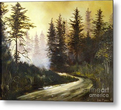 Sunrise In The Forest Metal Print by Lee Piper
