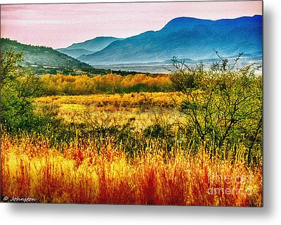 Sunrise In Verde Valley Arizona Metal Print by Bob and Nadine Johnston