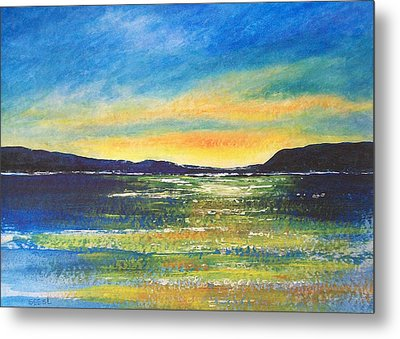 Metal Print featuring the painting Sunrise by Jane  See