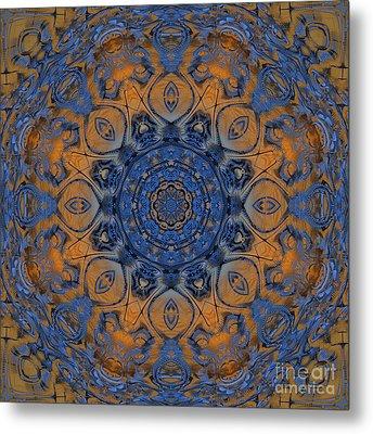Sunrise Kaleidoscope Metal Print by Deborah Benoit