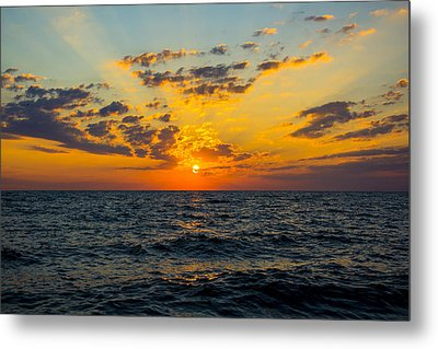 Metal Print featuring the photograph Sunrise Lake Michigan August 10th 2013 001 by Michael  Bennett