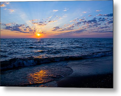 Metal Print featuring the photograph Sunrise Lake Michigan August 10th 2013 002 by Michael  Bennett