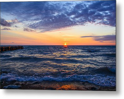 Metal Print featuring the photograph Sunrise Lake Michigan August 8th 2013 001 by Michael  Bennett