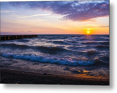 Metal Print featuring the photograph Sunrise Lake Michigan August 8th 2013 004 by Michael  Bennett