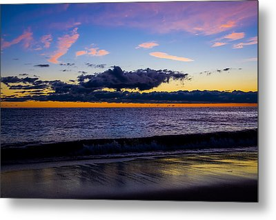 Metal Print featuring the photograph Sunrise Lake Michigan September 14th 2013 002 by Michael  Bennett