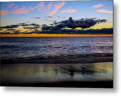 Metal Print featuring the photograph Sunrise Lake Michigan September 14th 2013 003 by Michael  Bennett