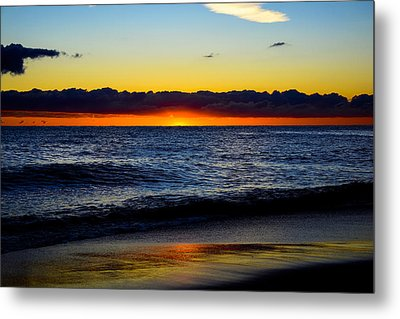 Metal Print featuring the photograph Sunrise Lake Michigan September 14th 2013 008 by Michael  Bennett