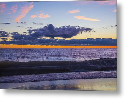 Metal Print featuring the photograph Sunrise Lake Michigan September 14th 2013 011 by Michael  Bennett