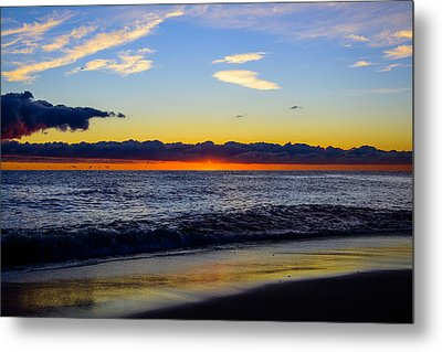 Metal Print featuring the photograph Sunrise Lake Michigan September 14th 2013 012 by Michael  Bennett