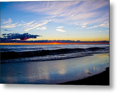Metal Print featuring the photograph Sunrise Lake Michigan September 14th 2013 013 by Michael  Bennett