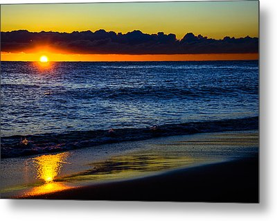 Metal Print featuring the photograph Sunrise Lake Michigan September 14th 2013 015 by Michael  Bennett