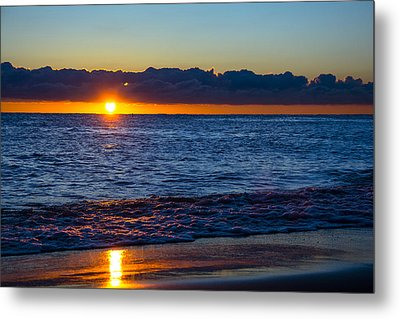 Metal Print featuring the photograph Sunrise Lake Michigan September 14th 2013 016 by Michael  Bennett
