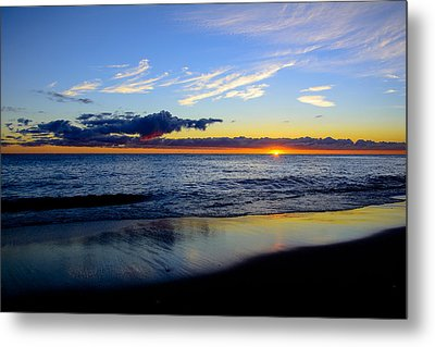 Metal Print featuring the photograph Sunrise Lake Michigan September 14th 2013 017 by Michael  Bennett