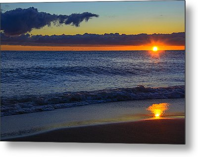 Metal Print featuring the photograph Sunrise Lake Michigan September 14th 2013 020 by Michael  Bennett