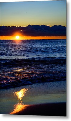 Metal Print featuring the photograph Sunrise Lake Michigan September 14th 2013 021 by Michael  Bennett