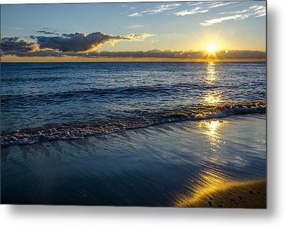 Metal Print featuring the photograph Sunrise Lake Michigan September 14th 2013 023 by Michael  Bennett