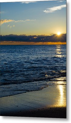 Metal Print featuring the photograph Sunrise Lake Michigan September 14th 2013 024 by Michael  Bennett