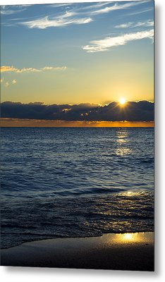 Metal Print featuring the photograph Sunrise Lake Michigan September 14th 2013 025 by Michael  Bennett