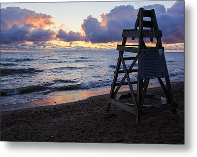 Metal Print featuring the photograph Sunrise Lake Michigan September 2nd 2013 005 by Michael  Bennett