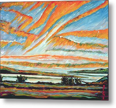 Sunrise Les Eboulements Quebec Metal Print by Patricia Eyre