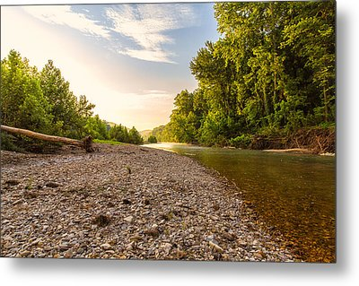 Sunrise Light On Buffalo River Metal Print by Bill Tiepelman