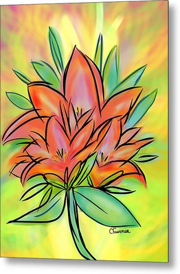Sunrise Lily Metal Print by Christine Fournier