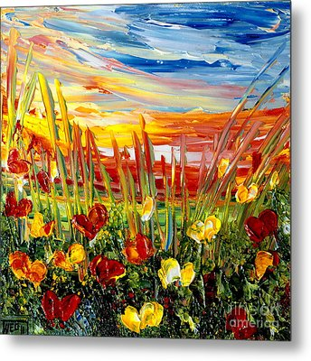 Sunrise Meadow   Metal Print
