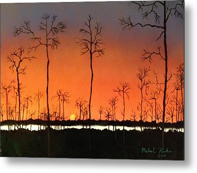 Metal Print featuring the painting Sunrise by Michael Rucker