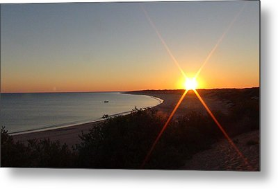Metal Print featuring the photograph Sunrise Near Broome  Australia by Tony Mathews