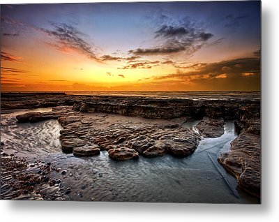 Sunrise On Bexhill Beach Metal Print by Mark Leader