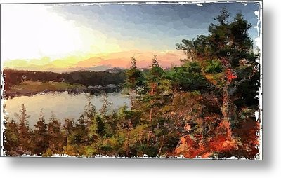 Sunrise On Bungie's Head Isle Au Haut Maine Metal Print by Mary Fennell