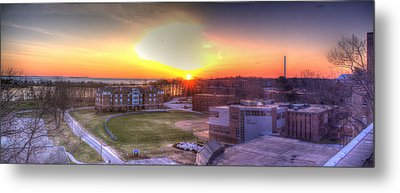 Sunrise On Campus Metal Print