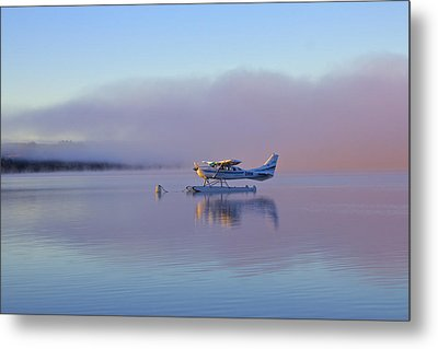 Sunrise On Lake Te Anu Metal Print by Venetia Featherstone-Witty