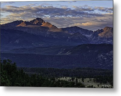 Sunrise On Longs Metal Print by Tom Wilbert