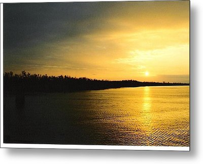 Metal Print featuring the photograph Sunrise On Ole Man River by Michael Hoard