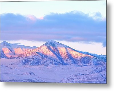 Sunrise On Snow Capped Mountains Metal Print by Tracie Kaska