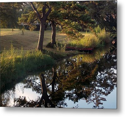 Sunrise On The Bayou Metal Print by John Glass