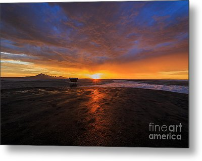 Sunrise On The Bonneville Salt Flats Metal Print by Holly Martin