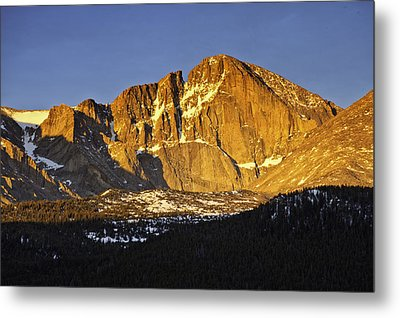 Sunrise On The Diamond Metal Print by Tom Wilbert