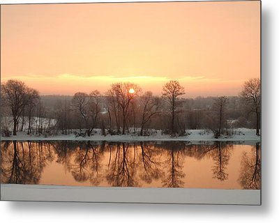 Sunrise On The Ema River Metal Print